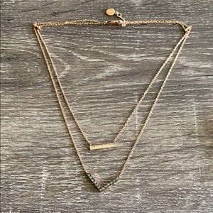 Double Layer Gold Michael Kors Necklace